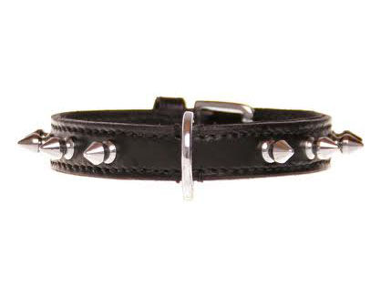 "Halsband ""Touch & Tiny"" - 15mm - zwart/zilver"