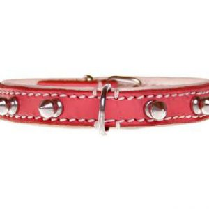 "Halsband ""Spiky Girl"" - 15mm - roze"