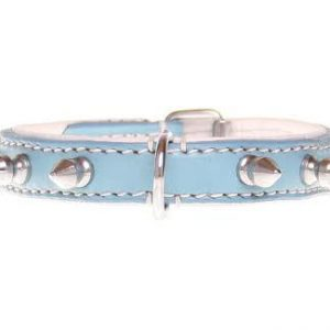 "Halsband ""Spiky Boy"" - 15mm - blauw"