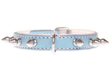 """Halsband """"Spiky Boy"""" - 15mm - blauw"""