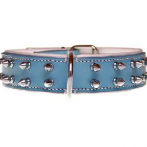 "Halsband ""Spiky Boy"" - 35mm - blauw"