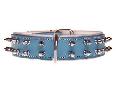 """Halsband """"Spiky Boy"""" - 35mm - blauw"""