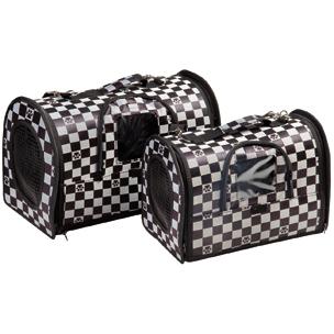 tas checkers zwart/grijs