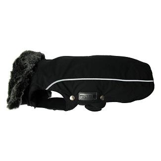 Wolters jasje met kraag en tuigjes opening zwart