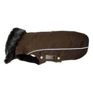 Wolters jasje met kraag en tuigjes opening bruin