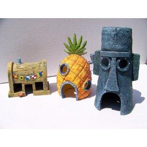 spongebob huizen set