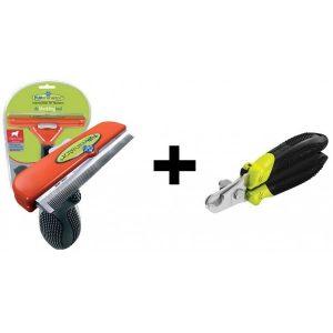 furminator XL met gratis nagelschaar of borstel