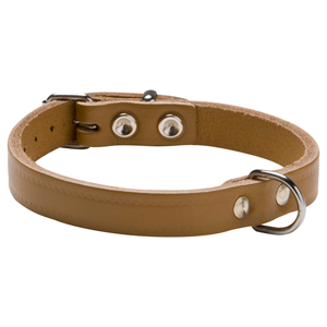 halsband softleder naturel