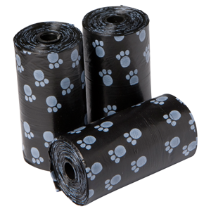 Poepzakjes 3x20 stuks zwart/pootjes