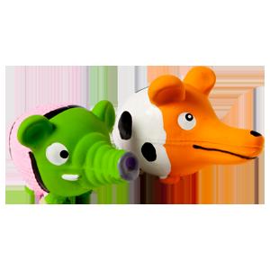 Latex toy diertje + lange neus 10 cm assorti